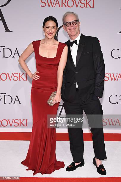 Model Natane Boudreau and Richard Haines attend the 2015 CFDA Fashion Awards at Alice Tully Hall at Lincoln Center on June 1 2015 in New York City