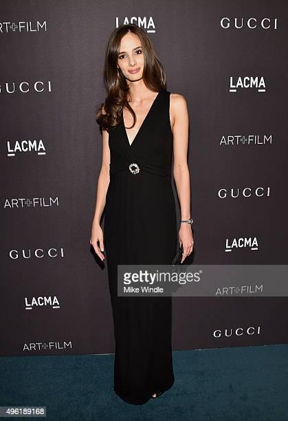 Model Natasa Mitrovic attends LACMA 2015 ArtFilm Gala Honoring James Turrell and Alejandro G Iñárritu Presented by Gucci at LACMA on November 7 2015...