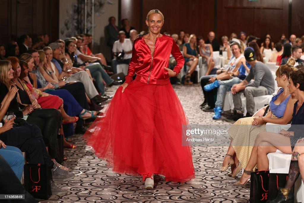 Model Natascha Ochsenknecht walks the runway during the Marcel Ostertag fashion show at Charles Hotel on July 24, 2013 in Munich, Germany.