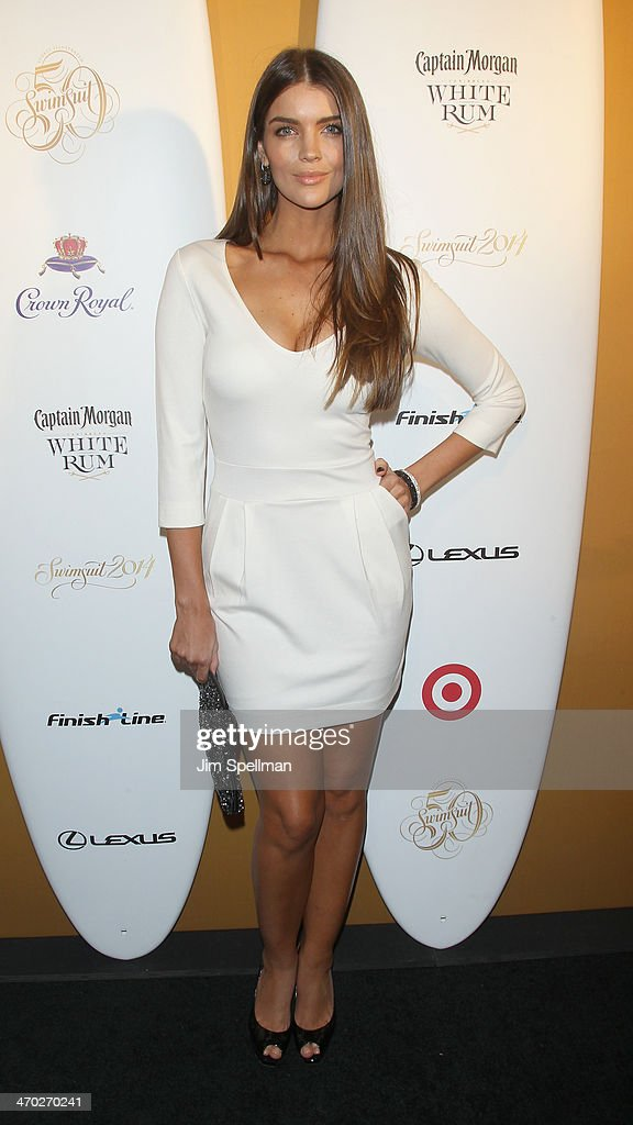 Model Natasha Barnard attends the Sports Illustrated Swimsuit 50th Anniversary Party at Swimsuit Beach House on February 18, 2014 in New York City.