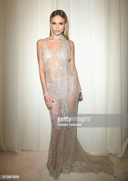 Model Natasha Poly attends Bulgari at the 24th Annual Elton John AIDS Foundation's Oscar Viewing Party at The City of West Hollywood Park on February...