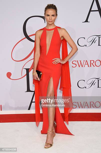 Model Natasha Poly attends the 2015 CFDA Fashion Awards at Alice Tully Hall at Lincoln Center on June 1 2015 in New York City