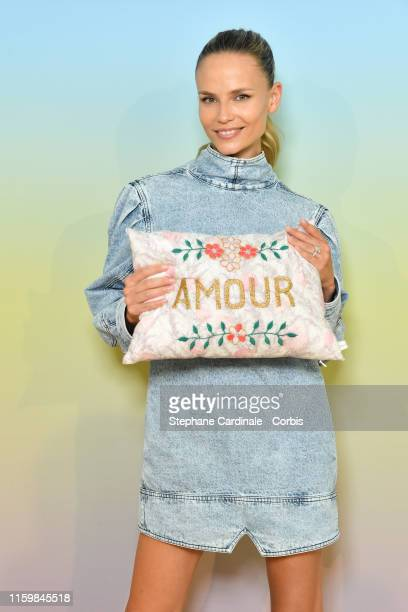 Model Natasha Poly attends the Bonpoint show as part of Paris Fashion Week on July 03, 2019 in Paris, France.