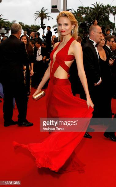 Model Natasha Poly attends the 'Cosmopolis' premiere during the 65th Annual Cannes Film Festival at Palais des Festivals on May 25 2012 in Cannes...