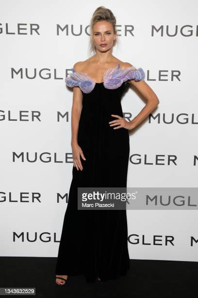 """Model Natasha Poly attends the """"Thierry Mugler : Couturissime"""" Photocall as part of Paris Fashion Week at Musee Des Arts Decoratifs on September 28,..."""