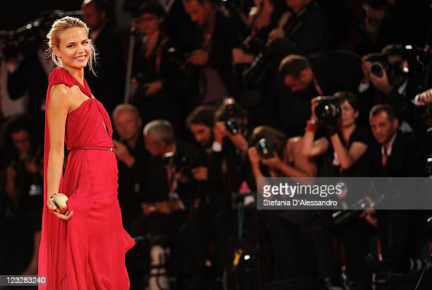 """Model Natasha Poly attends the """"W.E."""" premiere at the Palazzo Del Cinema during the 68th Venice Film Festival on September 1, 2011 in Venice, Italy."""