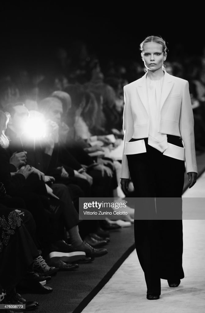 Model Natasha Poly walks the runway during the Givenchy show as part of the Paris Fashion Week Womenswear Fall/Winter 2014-2015 at La Halle Freyssinet on March 2, 2014 in Paris, France.