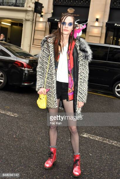 Model Natassja Tidball attends the Vivienne Westwood Show as part of the Paris Fashion Week Womenswear Fall/Winter 2017/2018 on March 4 2017 at Hotel...