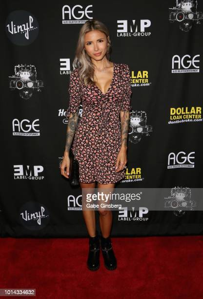 Model Nathalia Ashba attends a CD release party for COOP at Vinyl inside the Hard Rock Hotel Casino on August 9 2018 in Las Vegas Nevada