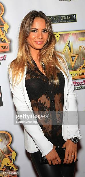 Model Nathalia Henao arrives at the 2013 Vegas Rocks magazine music awards at The Joint inside the Hard Rock Hotel Casino on August 25 2013 in Las...
