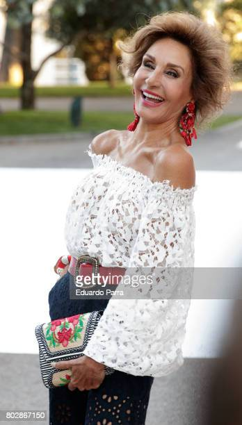 Model Naty Abascal attends the 'Harper's Bazaar summer party' photocall at Casa de Velazquez on June 28 2017 in Madrid Spain