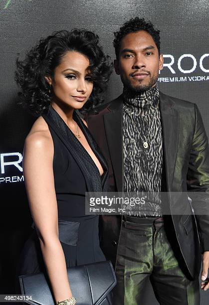 Model Nazanin Mandi and recording artist Miguel attend Sean 'Diddy' Combs Exclusive Birthday Celebration Presented By CIROC Vodka on November 22 2015...
