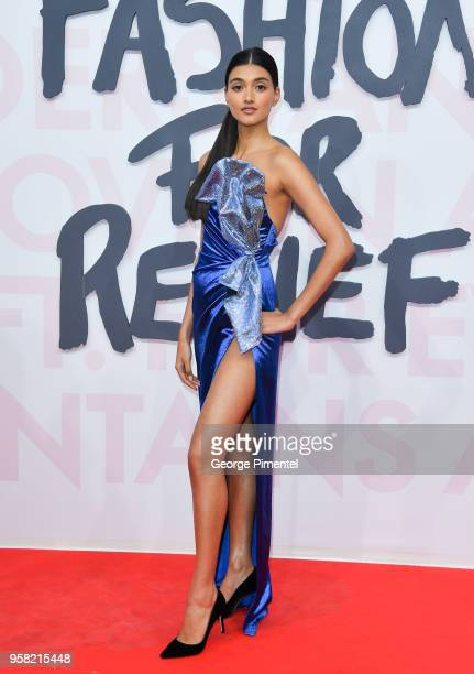 Model Neelam Gill attends Fashion For Relief Cannes 2018 during the 71st annual Cannes Film Festival at Aeroport Cannes Mandelieu on May 13 2018 in...
