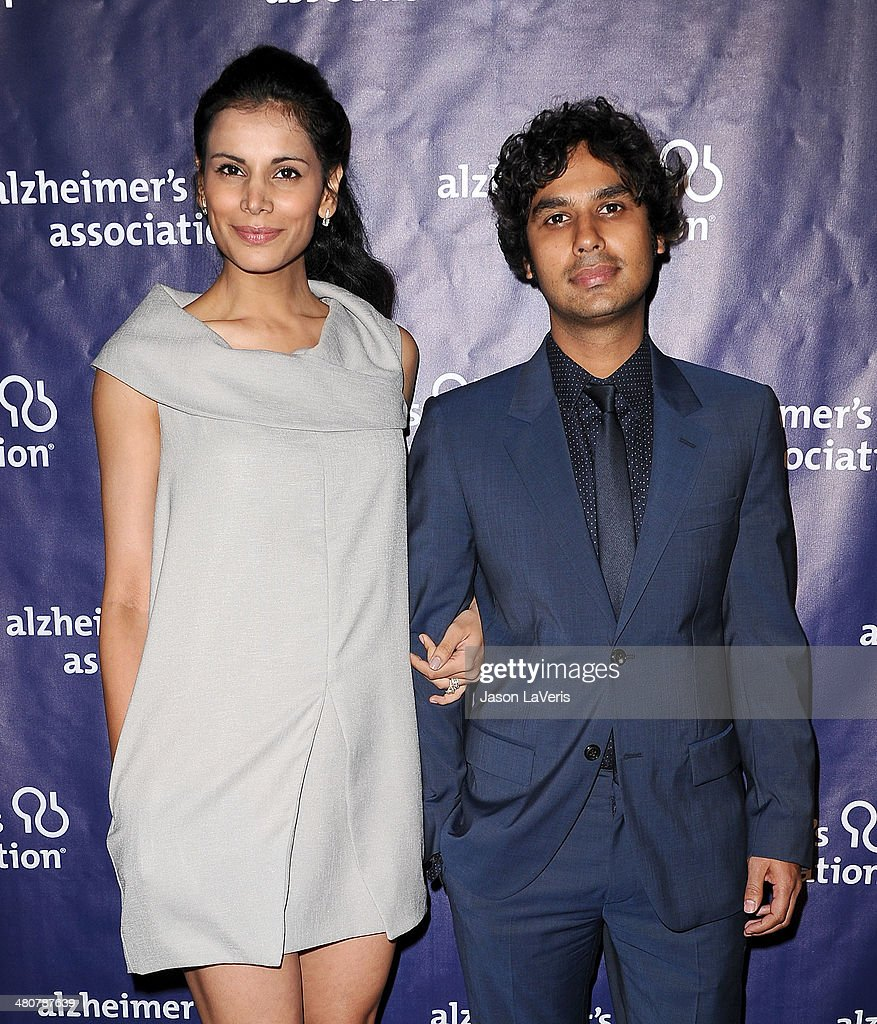 Model Neha Kapur and actor Kunal Nayyar attend the 22nd 'A Night At Sardi's' at The Beverly Hilton Hotel on March 26, 2014 in Beverly Hills, California.