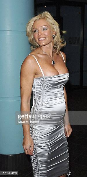 Model Nell McAndrew arrives at the World Premiere of Basic Instinct II Risk Addiction at Vue Leicester Square on March 15 2006 in London England The...