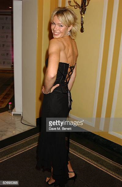 Model Nell McAndrew attends the UK FiFi Awards at The Dorchester on April 25 2005 in London England The awards mirror the International FiFi Awards...