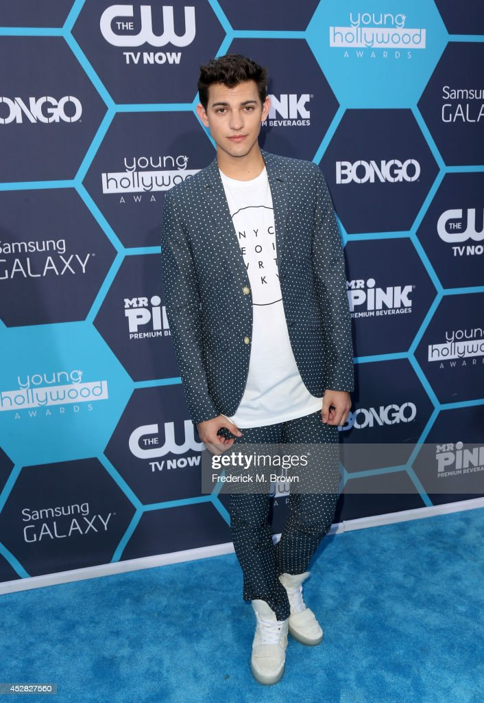 Model Nick Hissom attends the 2014 Young Hollywood Awards brought to you by Mr. Pink held at The Wiltern on July 27, 2014 in Los Angeles, California.