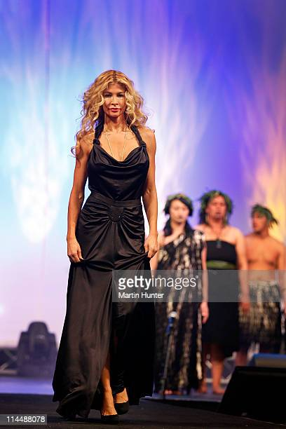 Model Nicky Watson walks the catwalk during the Rise Up Christchurch telethon appeal event at on May 22 2011 in Christchurch New Zealand The 12hour...
