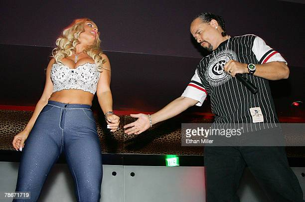 Model Nicole Coco Austin and her husband actor/rapper IceT dance as they host the New Year's weekend kickoff party for Prive Las Vegas inside the...