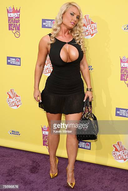 Model Nicole Coco Austin arrives at the Comedy Central Roast of Flavor Flav at Warner Bros Studio Lot Stage 23 on July 22 2007 in Burbank California
