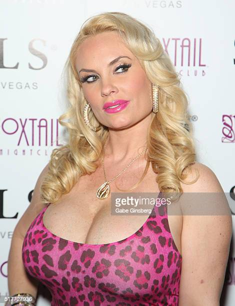 Model Nicole Coco Austin attends her birthday party at Foxtail Nightclub at SLS Las Vegas on March 27 2016 in Las Vegas Nevada