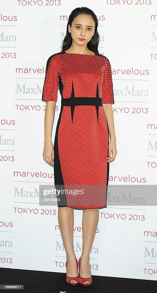 Model Nicole Ishida attends a photocall of Marvelous Max Mara Tokyo 2013 at Ryogoku Kokugikan on November 5, 2013 in Tokyo, Japan.