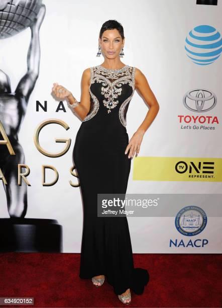 Model Nicole Murphy arrives at the 48th NAACP Image Awards at Pasadena Civic Auditorium on February 11 2017 in Pasadena California
