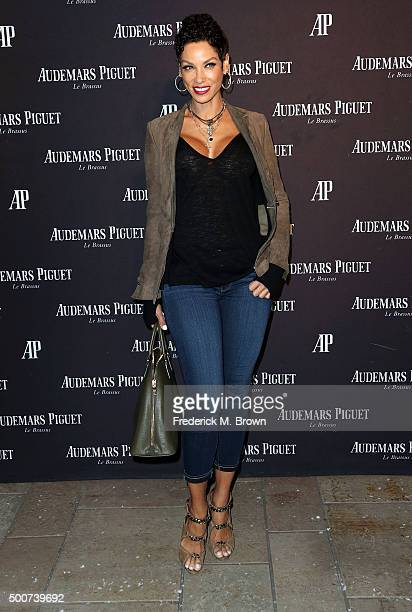 Model Nicole Murphy attends Audemars Piquet Celebrates Grand Opening of Rodeo Drive Boutique on December 9 2015 in Beverly Hills California