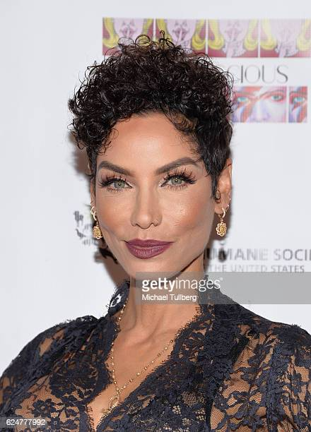 Model Nicole Murphy attends the debut gallery opening of Bria Murphy's Subconscious benefiting the Pets for Life Program for The Humane Society at...