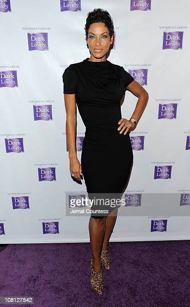 Model Nicole Murphy attends the event where SoftSheenCarson Dark and Lovely Announces Model Bria Murphy As NEW Global Brand Ambassador at Juliet...
