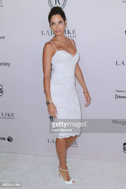 Model Nicole Murphy attends the Ladylike Foundation's 9th Annual Women Of Excellence Awards Gala at The Beverly Hilton Hotel on June 3 2017 in...