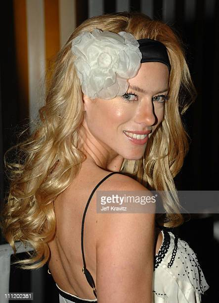 Model Nicole Newman arrives during rehearsals for Los Premios MTV Latin America 2007 at El Palacio de Los Deportes on October 18, 2007 in Mexico...