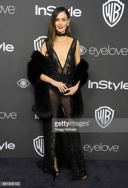 Model Nicole Trunfio arrives at the 18th Annual PostGolden Globes Party hosted by Warner Bros Pictures and InStyle at The Beverly Hilton Hotel on...