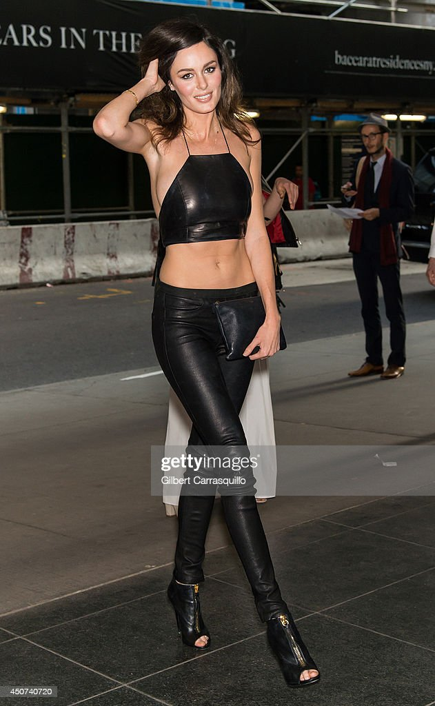 Model Nicole Trunfio arrives to the Yves Saint Laurent Couture Palette & The Cinema Society premiere of The Weinstein Company's 'Yves Saint Laurent' at Museum of Modern Art on June 16, 2014 in New York City.