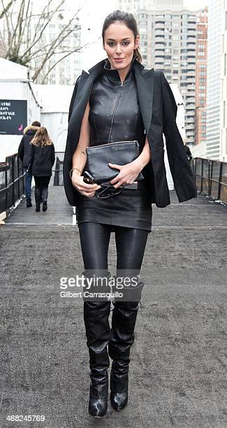 Model Nicole Trunfio attends Fall 2014 Mercedes Benz Fashion Week on February 9 2014 in New York City