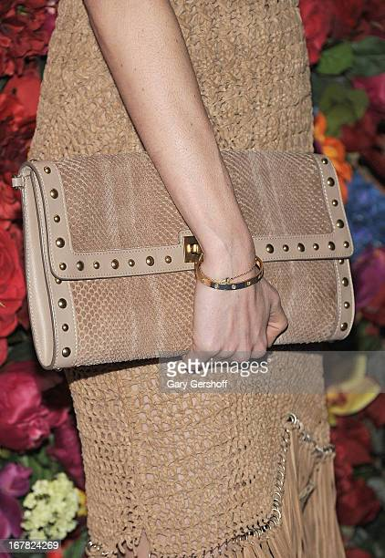 Model Nicole Trunfio attends Ferragamo Celebrates The Launch Of L'Icona Highlighting The 35th Anniversary Of Vara at 530 West 27th Street on April 30...