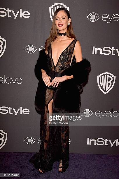 Model Nicole Trunfio attends the 18th Annual PostGolden Globes Party hosted by Warner Bros Pictures and InStyle at The Beverly Hilton Hotel on...