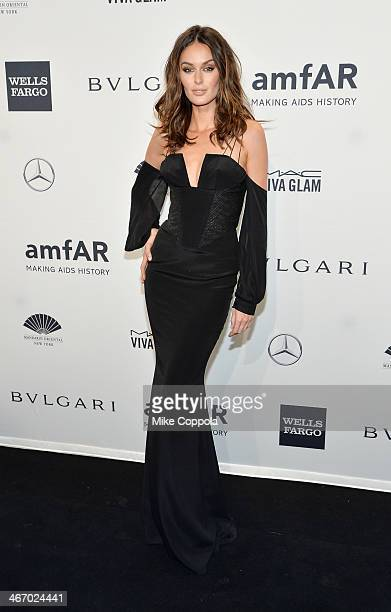 Model Nicole Trunfio attends the 2014 amfAR New York Gala at Cipriani Wall Street on February 5 2014 in New York City