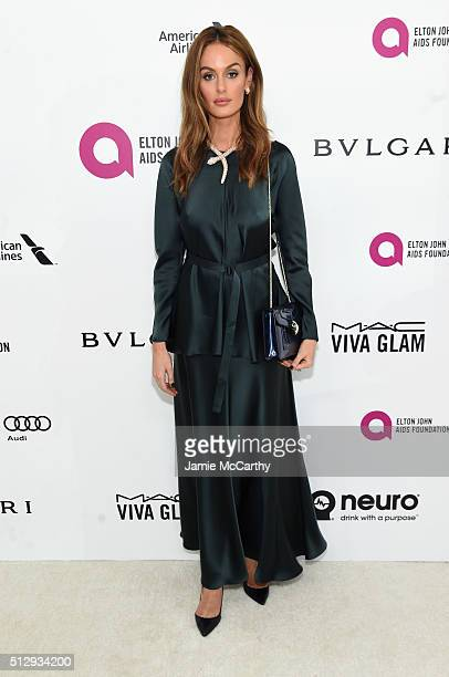 Model Nicole Trunfio attends the 24th Annual Elton John AIDS Foundation's Oscar Viewing Party at The City of West Hollywood Park on February 28 2016...