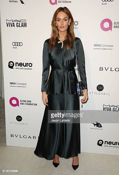 Model Nicole Trunfio attends the 24th annual Elton John AIDS Foundation's Oscar viewing party on February 28 2016 in West Hollywood California