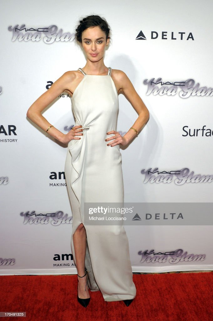 Model Nicole Trunfio attends the 4th Annual amfAR Inspiration Gala New York at The Plaza Hotel on June 13, 2013 in New York City.