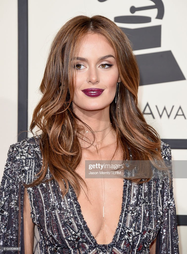 Model Nicole Trunfio attends The 58th GRAMMY Awards at Staples Center on February 15, 2016 in Los Angeles, California.