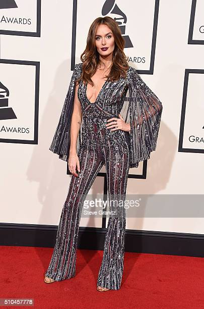 Model Nicole Trunfio attends The 58th GRAMMY Awards at Staples Center on February 15 2016 in Los Angeles California