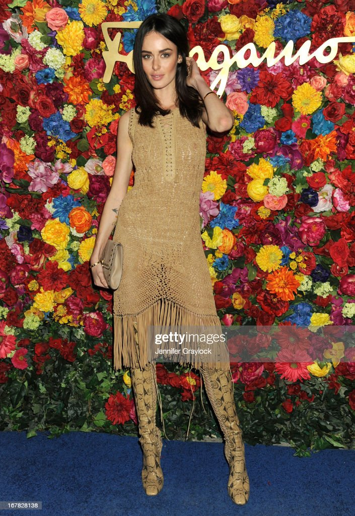 Model Nicole Trunfio attends the Ferragamo Celebrates The Launch Of L'Icona Highlighting The 35th Anniversary Of Vara at The McKittrick Hotel, Home of Sleep No More on April 30, 2013 in New York City.