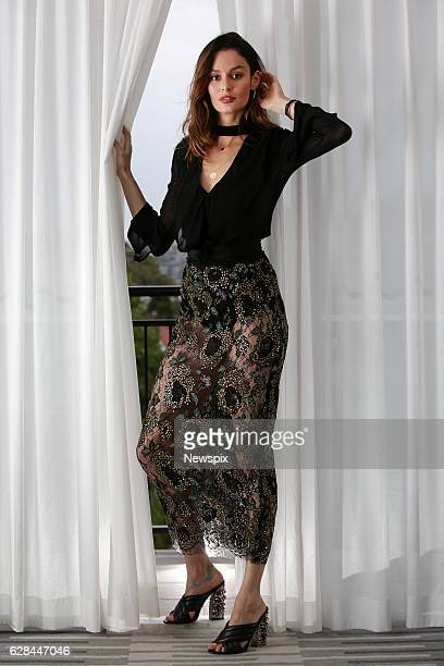 SYDNEY NSW Model Nicole Trunfio poses during a photo shoot in Sydney New South Wales