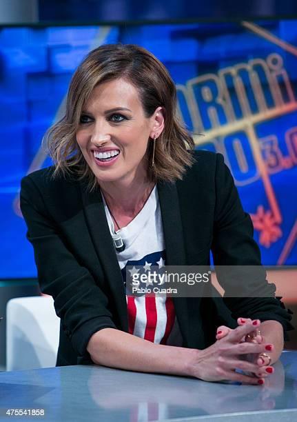 Model Nieves Alvarez attends 'El Hormiguero' Tv show at Vertice Studio on June 1 2015 in Madrid Spain