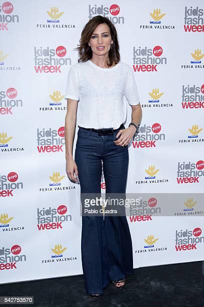 Model Nieves Alvarez attends FIMI 2016 Fashion Show at 'Palacio de Cristal' on June 24 2016 in Madrid Spain