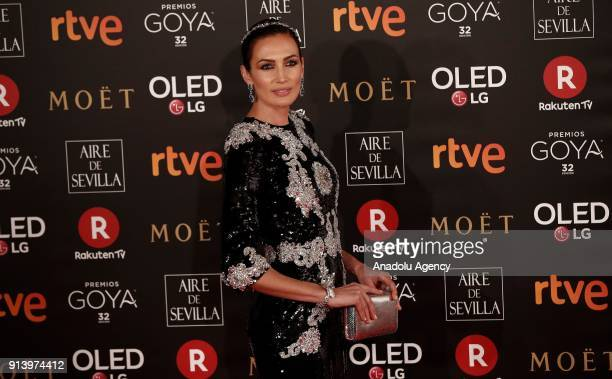 Model Nieves Alvarez attends the 32th edition of the Goya Awards ceremony in Madrid Spain on February 04 2018