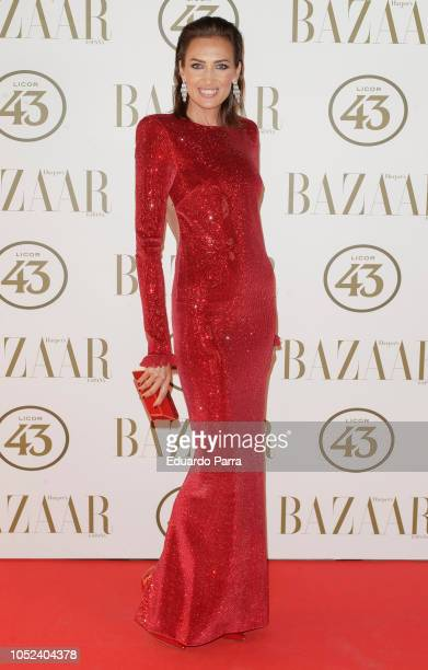 Model Nieves Alvarez attends the 'Harper's Bazaar Actitud 43 awards 2018' at Gunilla club on October 17 2018 in Madrid Spain