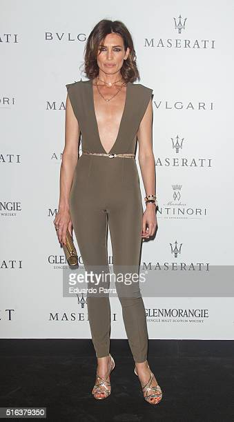Model Nieves Alvarez attends the Maserati Party to present the new car model of the brand on March 18 2016 in Madrid Spain